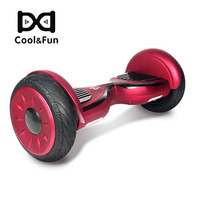 COOL&FUN HOVERBOARD BLUETOOTH 10 POUCES HORSEBOARD ROUGE BORDEAUX