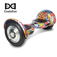 COOL&FUN HOVERBOARD BLUETOOTH GYROPODE 10 POUCES  HIP-HOP MULTI-COULEUR DESIGN