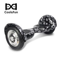 COOL&FUN  HOVERBOARD BLUETOOTH GYROPODE 10 POUCES NOIR CARBONE CRANE DESIGN