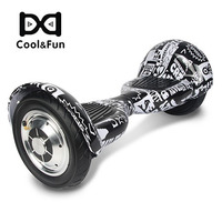 COOL&FUN  HOVERBOARD BLUETOOTH GYROPODE 10 POUCES  NOIR CARBONE PRESSE DESIGN