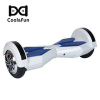 COOL&FUN COOL&FUN HOVERBOARD BLUETOOTH SMART BALANS SCOOTER 8 INCH WIT BLAUW