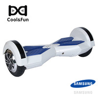 COOL&FUN COOL&FUN HOVERBOARD BATTERIE SAMSUNG BLUETOOTH GYROPODE 8 POUCES BLANC BLEU