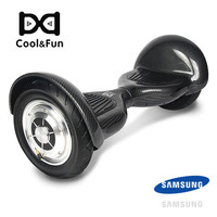 COOL&FUN HOVERBOARD BATTERIE SAMSUNG BLUETOOTH GYROPODE 10 POUCES NOIR CARBONE
