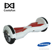COOL&FUN HOVERBOARD BATTERIE SAMSUNG BLUETOOTH GYROPODE 8 POUCES BLANC ROUGE