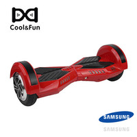 COOL&FUN HOVERBOARD BATTERIE SAMSUNG BLUETOOTH GYROPODE 8 POUCES ROUGE NOIR