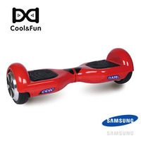 COOL&FUN HOVERBOARD GYROPODE BATTERIE SAMSUNG BLUETOOTH 6,5 POUCES ROUGE