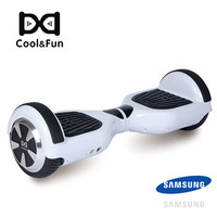 COOL&FUN  HOVERBOARD GYROPODE BATTERIE SAMSUNG BLUETOOTH 6,5 POUCES BLANC