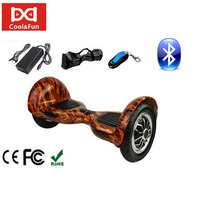 COOL&FUN HOVERBOARD BLUETOOTH GYROPODE 10 POUCES FLAME DESIGN