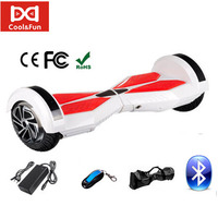 COOL&FUN  HOVERBOARD BLUETOOTH GYROPODE 8 POUCES BLANC ROUGE