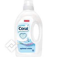 CORAL Liquide Lessive Optimal White 26 Lavages