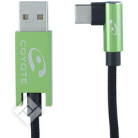 COYOTE CABLE USBC-USB 90 DEGREES