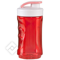 DOMO 300ML BLENDERBOTTLE RED