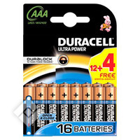 DURACELL UP LR03/AAA ALC. 12+4