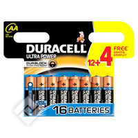 DURACELL UP LR06/AA ALC. 12+4