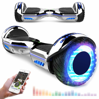 EVERCROSS EVERCROSS HOVERBOARD BLUETOOTH 6.5 POUCES GYROPODE MOTEUR 2*350W AVEC ROUES LED FLASH ARGENT