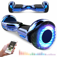 EVERCROSS EVERCROSS HOVERBOARD BLUETOOTH 6.5 POUCES GYROPODE MOTEUR 2*350W AVEC ROUES LED FLASH BLEU