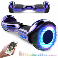EVERCROSS EVERCROSS HOVERBOARD BLUETOOTH 6.5 POUCES GYROPODE MOTEUR 2*350W AVEC ROUES LED FLASH VIOLET
