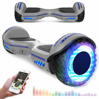 EVERCROSS EVERCROSS HOVERBOARD BLUETOOTH 6.5 POUCES GYROPODE MOTEUR 2*350W AVEC ROUES LED FLASH GRIS