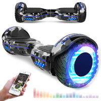 EVERCROSS EVERCROSS HOVERBOARD BLUETOOTH 6.5 POUCES GYROPODE MOTEUR 2*350W AVEC ROUES LED FLASH CAMOUFLAGE