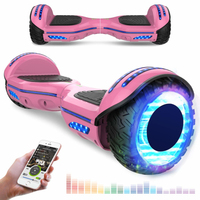 Evercross EVERCROSS HOVERBOARD BLUETOOTH 6.5 POUCES GYROPODE MOTEUR 2*350W AVEC ROUES LED FLASH ROSE