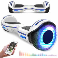 EVERCROSS EVERCROSS HOVERBOARD BLUETOOTH 6.5 POUCES GYROPODE MOTEUR 2*350W AVEC ROUES LED FLASH BLANC