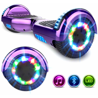 EVERCROSS EVERCROSS HOVERBOARD BLUETOOTH 6.5 POUCES GYROPODE MOTEUR 2*350W VIOLET