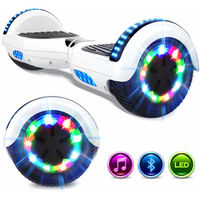 EVERCROSS EVERCROSS HOVERBOARD BLUETOOTH 6.5 POUCES GYROPODE MOTEUR 2*350W BLANC