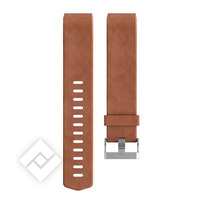 FITBIT CHARGE HR 2 ACCESSORY BRACELET LEATHER - BROWN - SMALL