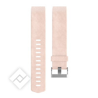 FITBIT CHARGE HR 2 ACCESSORY BRACELET LEATHER - PINK - SMALL