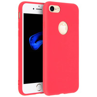 Forcell Forcell Coque iPhone 7/8 Coque Soft Touch Silicone Souple - Rouge