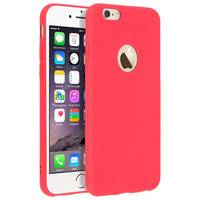 Forcell Forcell Coque iPhone 6 , iPhone 6S Coque Soft Touch Silicone Gel Souple - Rouge