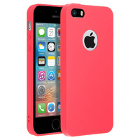 FORCELL FORCELL COQUE IPHONE 5 / 5S / SE COQUE SOFT TOUCH SILICONE GEL - ROUGE