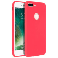 FORCELL FORCELL COQUE IPHONE 7 PLUS/IPHONE 8 PLUS COQUE SOFT TOUCH SILICONE GEL - ROUGE