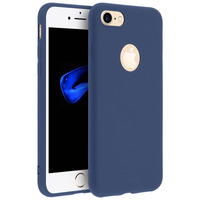 Forcell Forcell Coque iPhone 7/8 Coque Soft Touch Silicone Gel - Bleu nuit