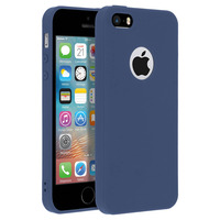Forcell Forcell CoqueiPhone 5 / 5S / SE Coque Soft Touch Silicone Gel Souple - Bleu nuit