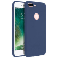 Forcell Forcell Coque iPhone 7 Plus/iPhone 8 Plus Coque Soft Touch Silicone - Bleu nuit