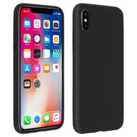 Forcell Forcell Coque iPhone X / XS Coque Soft Touch Silicone Gel Souple - Noir