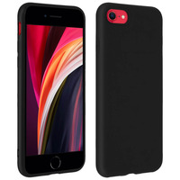 Forcell Forcell Coque iPhone 7/8/SE 2020 Soft Touch Silicone Gel Souple - Noir