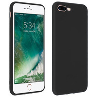 Forcell Forcell Coque iPhone 7 Plus , iPhone 8 Plus Coque Soft Touch Silicone Gel - Noir