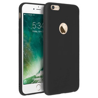Forcell Forcell Coque iPhone 6 Plus / 6S Plus Coque Soft Touch Silicone Gel - Noir