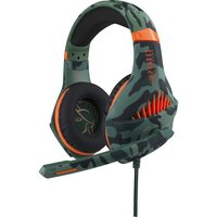 Fr-tec Phobos Warrior Gaming headset - Multiformat (PS4/PC/XBOX/Switch) - 3.5 mm jack - Camo groen