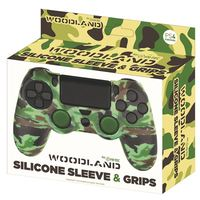 Fr-tec Silicone Skin + Grips Camo Woodland voor PS4