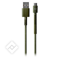 FRESH ÂN REBEL CABLE MICRO USB 1.5M ARMY