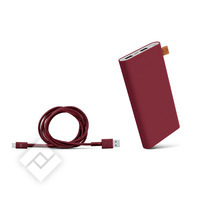 FRESH ´N REBEL 12000mAh + 1.5M cable USB-USBC Ruby