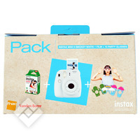 FUJIFILM INSTAX MINI 9 WHITE PACK + 10 FILMS + PARTY GLASSES