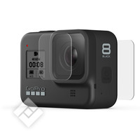 GOPRO TEMPERED GLASS LENS + SCREEN PROTECTORS FOR HERO 8