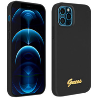 GUESS Coque iPhone 12 Pro Max Silicone Gel Soft Touch Guess Silicone Script noir