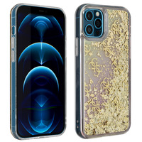 GUESS Coque iPhone 12 Pro Max Paillettes Flottantes Gradient Liquid Glitter Guess Or