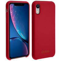 GUESS Coque iPhone XR Bumper Protection Rigide Antichoc Guess - Rouge