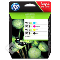 HP PACK 912XL 4 COLORS